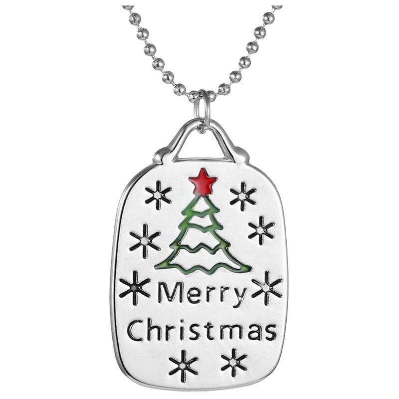Frohe Weihnachten Anhänger.Details About 4x Mode Anhaenger Halskette Kreative Neue Halsketten Frohe Weihnachten Weihna Pt