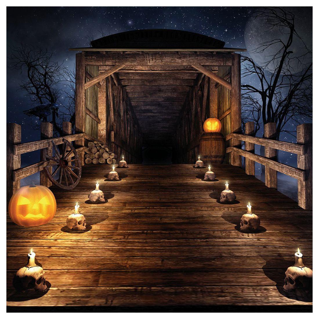 halloween vinyl photography backdrop photo background studio prop 5