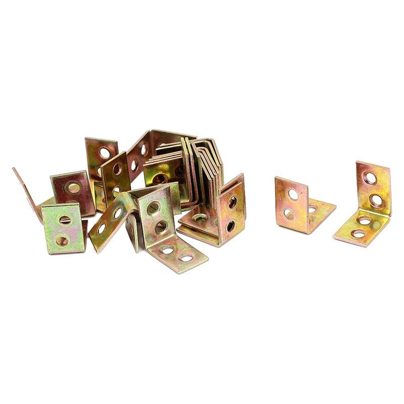 5X(Timber Decking Joists 26x26mm L Shaped 90 Degree Angle Brackets 22pcs R6I5)