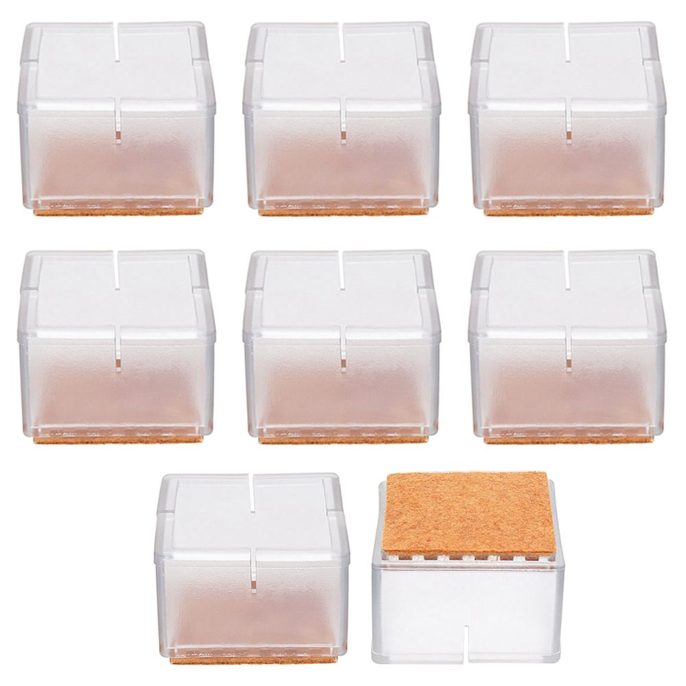 24x Chair Leg Wood Floor Protectors Chair Feet Glides