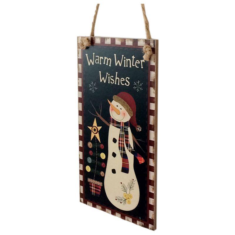 Tablero-colgante-de-muneco-de-nieve-Warm-Winter-Wishes-Signo-de-pared-colga-A5X7
