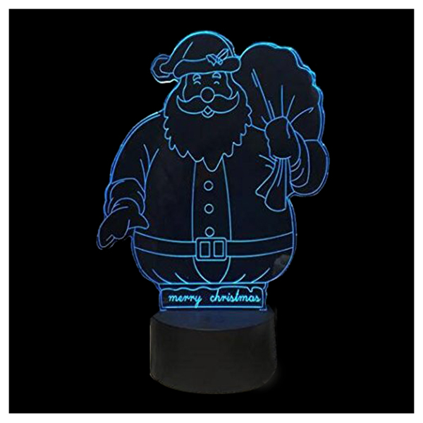 3D LED Night Light Desk Lamp 7 Colors Changing USB Powered Illusion Lamp,Sa J2H5