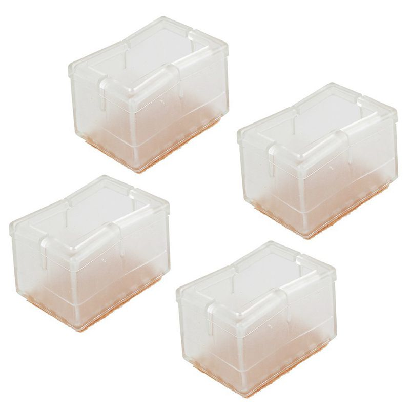 Image Is Loading Transparent Silicone Chair Leg Caps Felt Pads Furniture