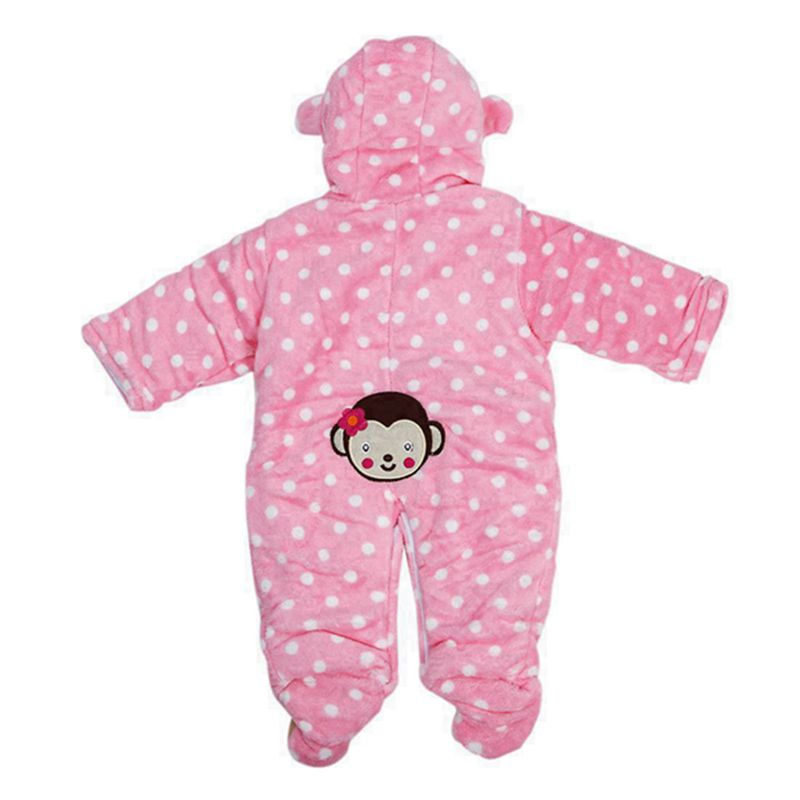 Baby Velours Netter Leichtfuessiger Overall Vorne Knopf Rosa 3-6 Monate J2V7