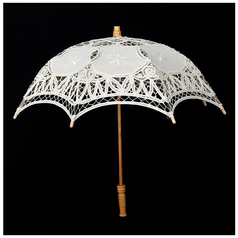 numerosos en variedad disponible discapacidades estructurales Detalles de Victorian Paraguas Paraguas Encaje Boda Novia Paraguas Marfil  30x51cm M7T1