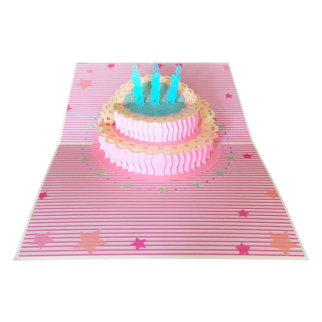 Birthday Card 3d Pop Up Cake Birthday Greeting Cards F3d4