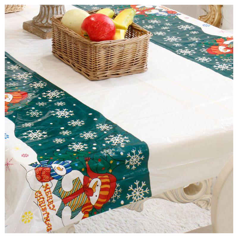Nappe-de-Noel-rectangulaire-jetable-Couvercle-de-table-Nappe-de-table-oblong-SC miniature 3