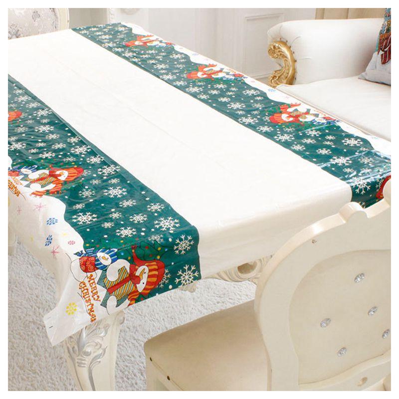 Nappe-de-Noel-rectangulaire-jetable-Couvercle-de-table-Nappe-de-table-oblong-SC miniature 4