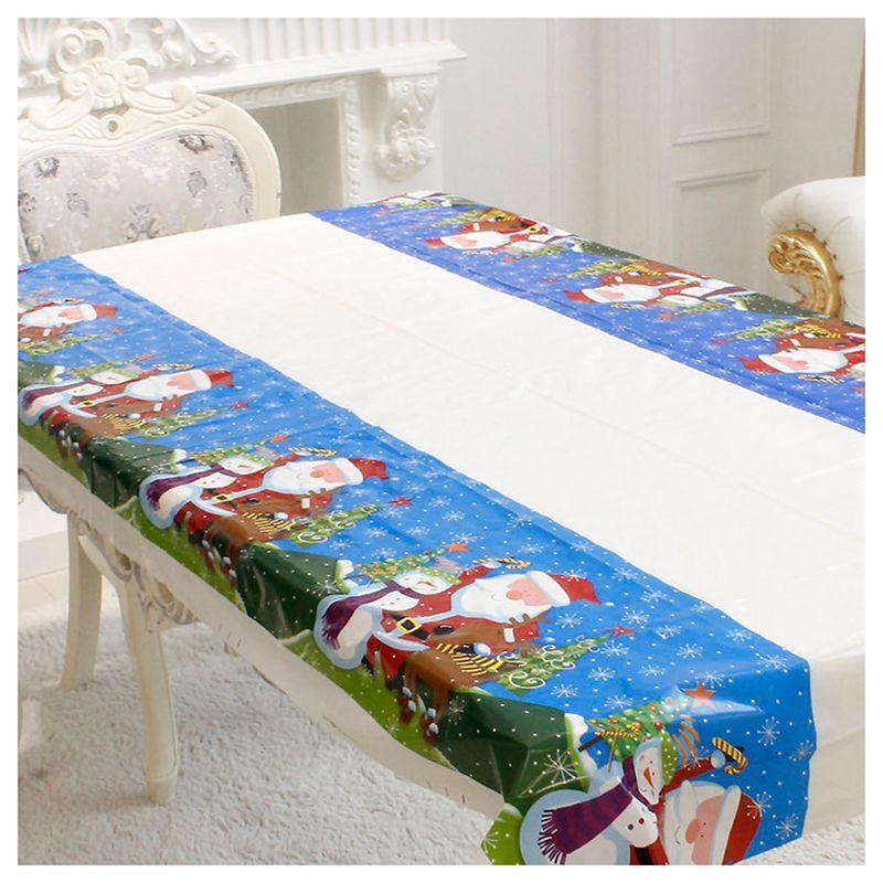Nappe-de-Noel-rectangulaire-jetable-Couvercle-de-table-Nappe-de-table-oblong-SC miniature 6