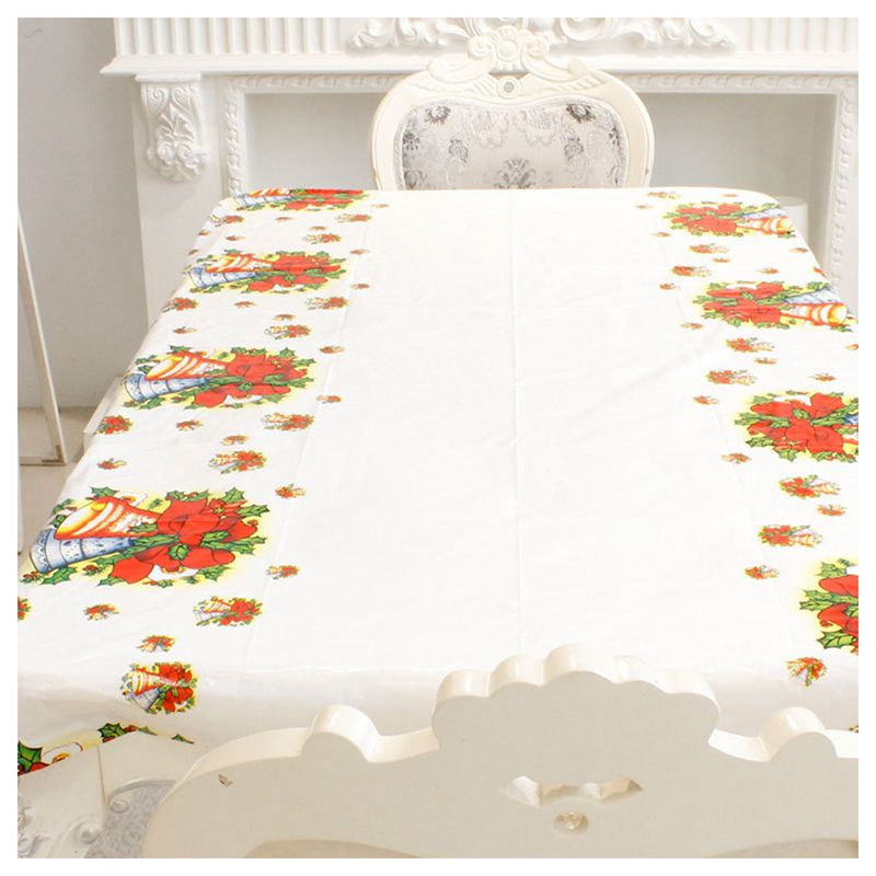 Nappe-de-Noel-rectangulaire-jetable-Couvercle-de-table-Nappe-de-table-oblong-SC miniature 9