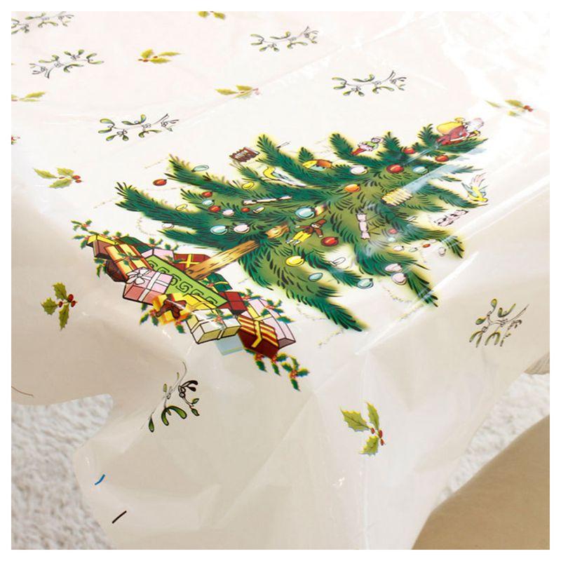 Nappe-de-Noel-rectangulaire-jetable-Couvercle-de-table-Nappe-de-table-oblong-SC miniature 13