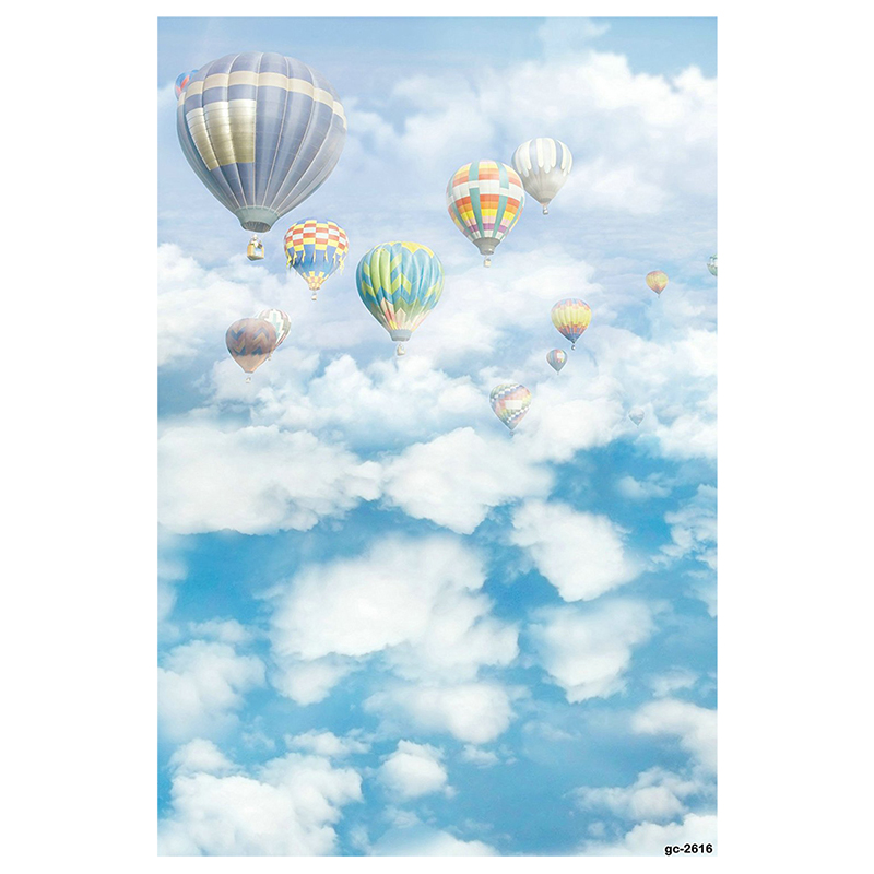 5x7ft-White-Clouds-and-Blue-Sky-Hot-Air-Balloon-Photo-Backgrounds-no-Wrinkl-S3L8