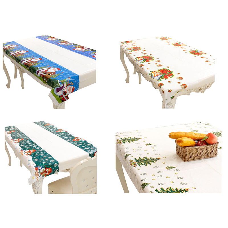 Christmas Disposable Tablecloth Festive Rectangle Oblong Table Cloth