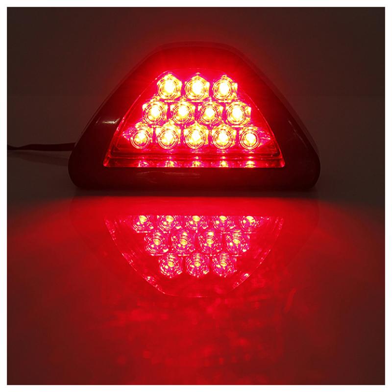 2x-Universal-F1-Car-DRL-12-LED-Rear-Tail-Stop-Fog-Brake-Flash-Strobe-Light-I6Z3