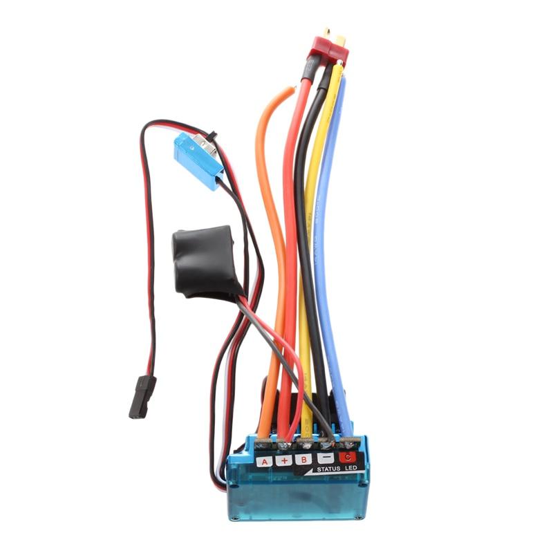 20X (120A Controlador de Velocidad sin escobillas Sensorojo ESC para RC Coche Camión Oruga B6L1)