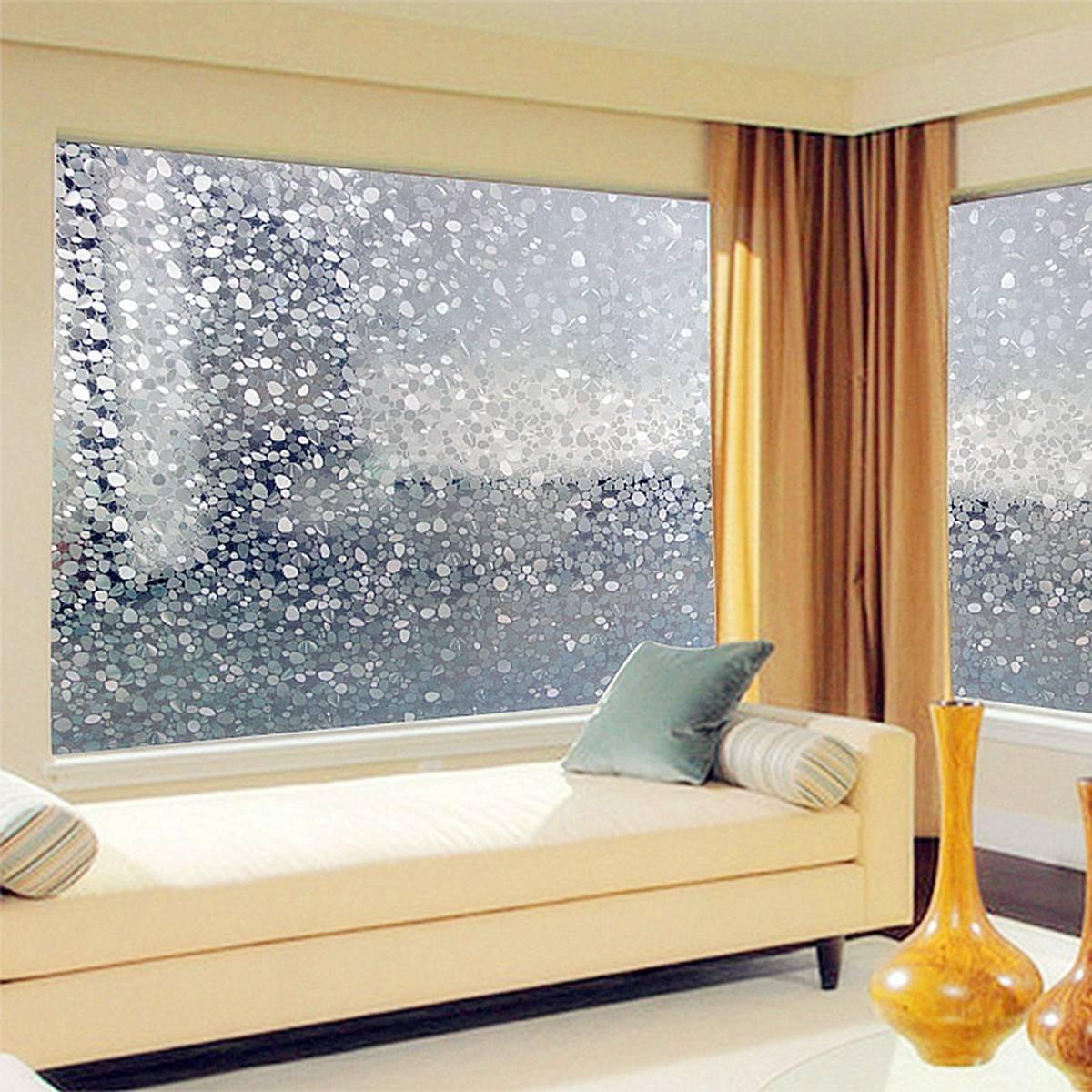 6x 100cm kieselsteine sichtschutzfolie milchglasfolie. Black Bedroom Furniture Sets. Home Design Ideas