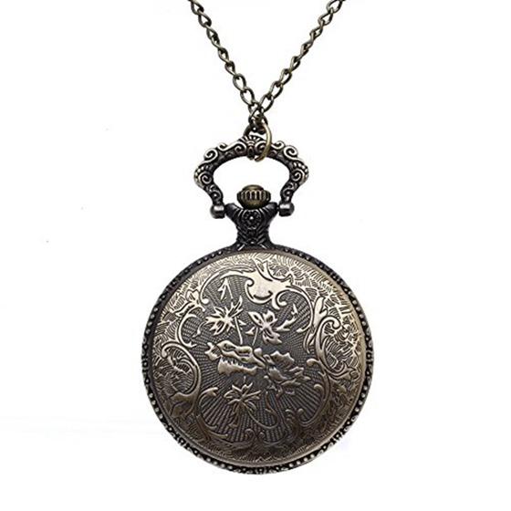 quarz bronze legierung halskette taschenuhr mit bemalten blumen glockenturm i6z2 ebay. Black Bedroom Furniture Sets. Home Design Ideas