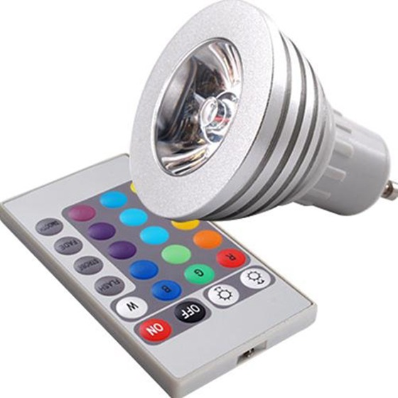 3w gu10 16 couleurs changeant rgb led lumiere ampoule avec telecommande f1v8 ebay. Black Bedroom Furniture Sets. Home Design Ideas