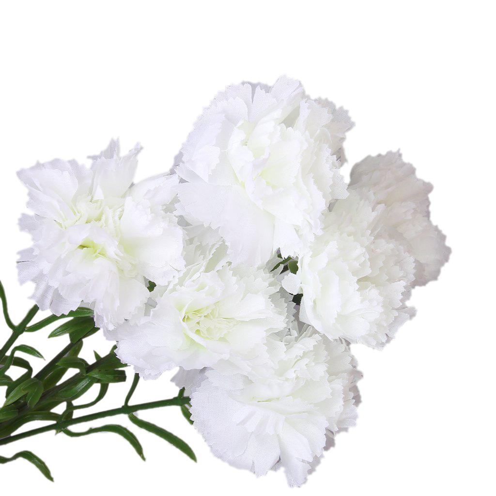 6pcs Simulation Carnation Flowers Artificial Plants Flowers K4z8