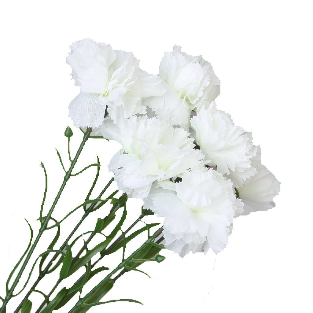 6pcs Simulation Carnation Flowers Artificial Plants Flowers K4z8