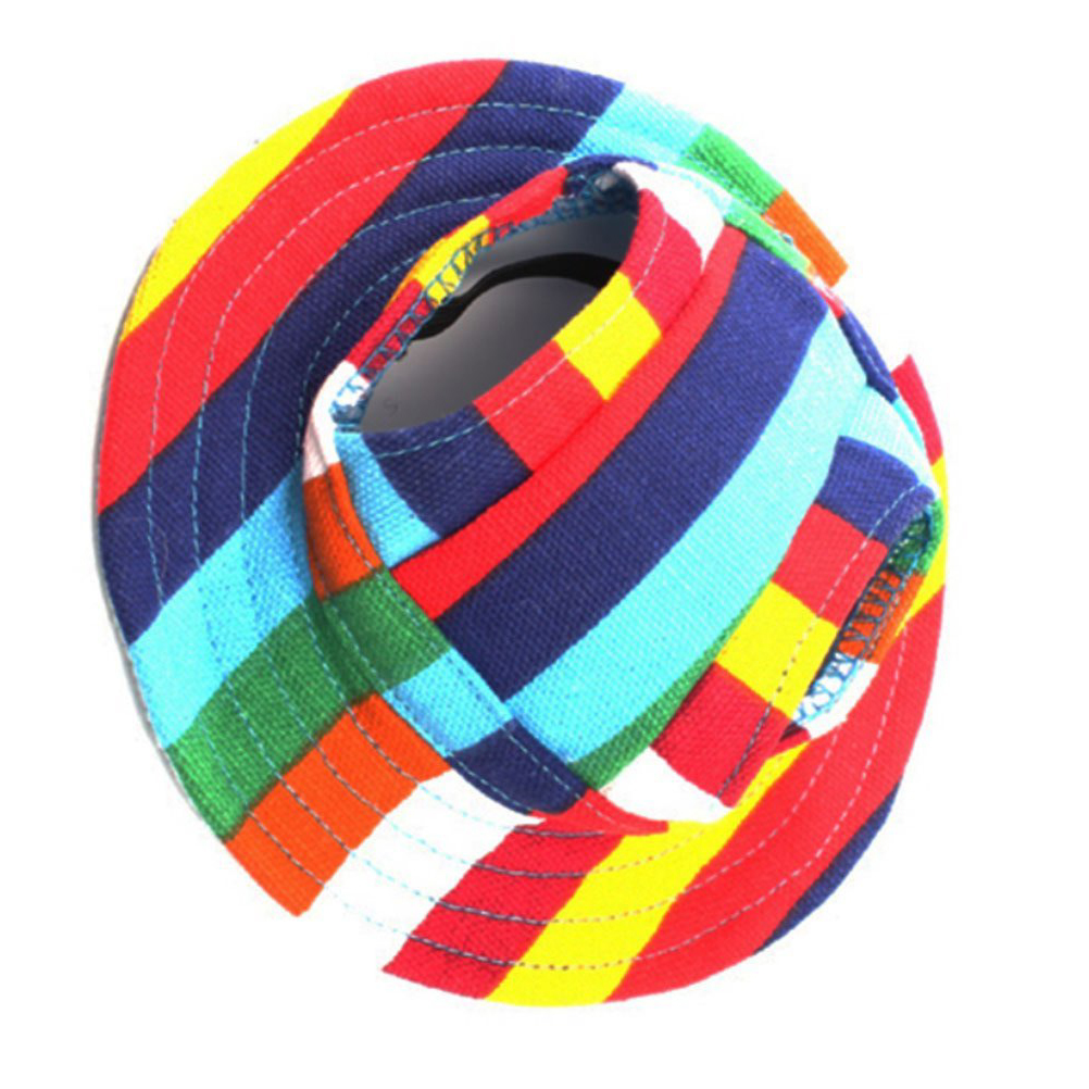 Round Brim Pet Cap Visor Hat Pet Dog Mesh Porous Sun Cap with Ear Holes for  E4J6 806a42656ba9