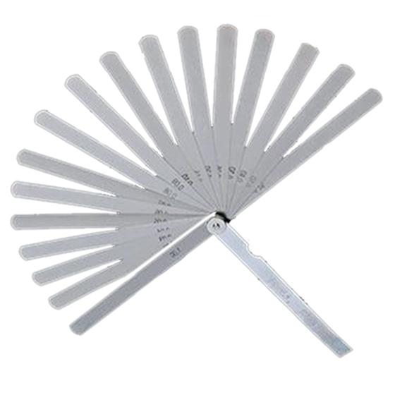 17 Blades Feeler Stainless Steel Gap 0.02-1.0mm Thickness Filler Gauge Tool