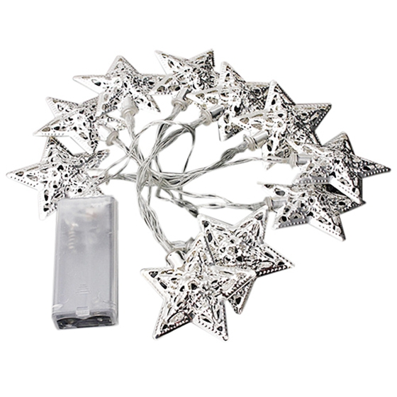 Battery Operated 10 Led Christmas Fairy String Light Star Decor