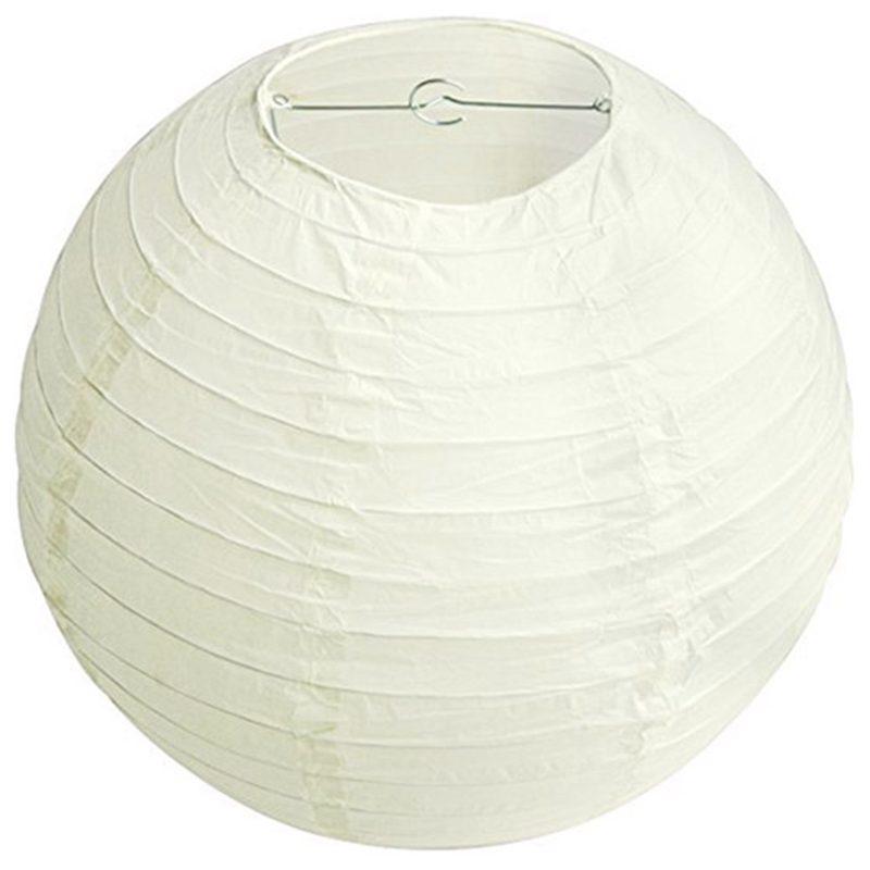 Details About 1x Round Paper Lanterns Lamp Shade Wedding Decoration 18inch 45cm Creamy W S9g6