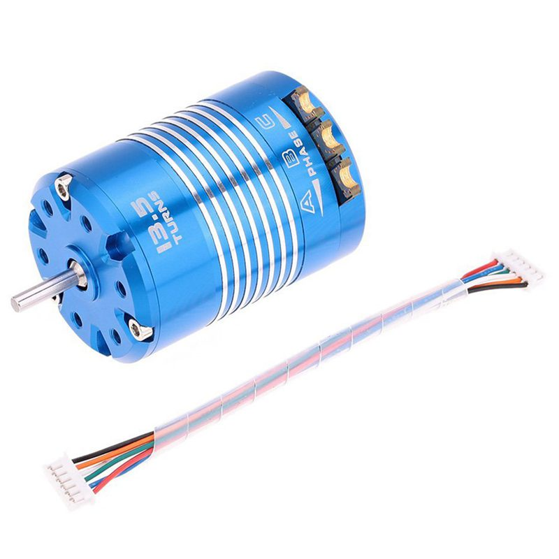 2X(High Efficiency 540 Sensorosso Brushless Motor for for for 1 10 RC auto blu, 13.5T M6T7 f6fab3