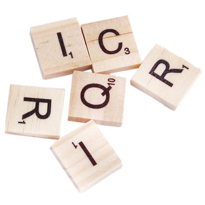 100x-Alfabeto-De-Madera-Azulejos-Letras-Y-NUMeros-Negros-Para-Scrabble-Nino-u2O miniatura 4