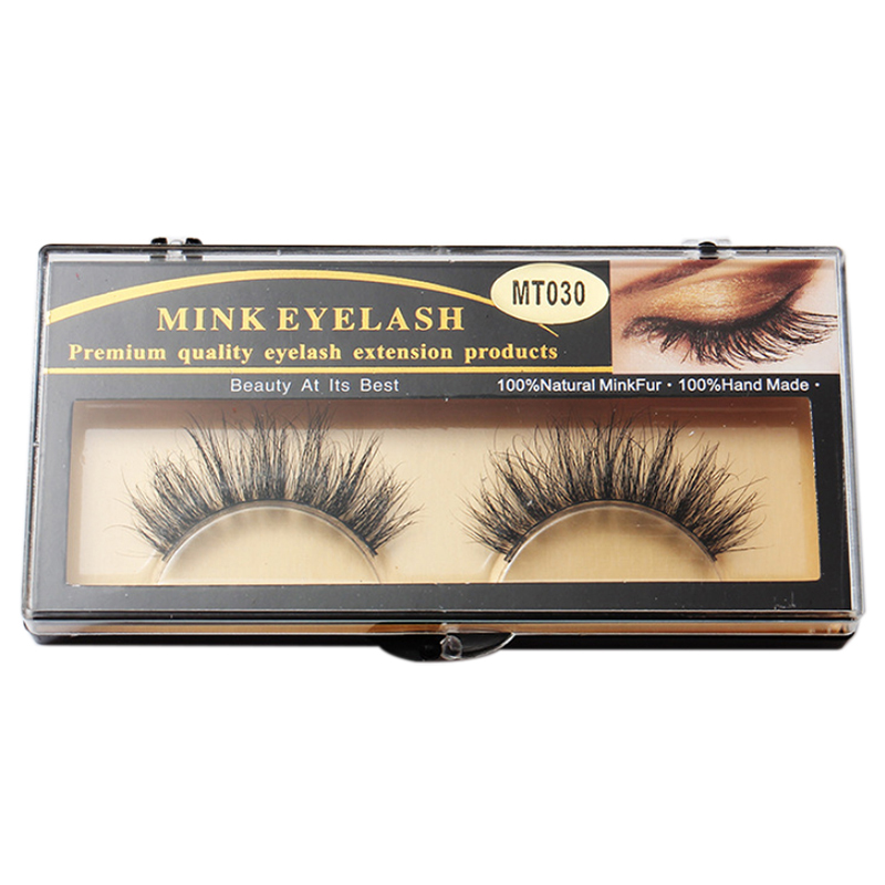 1 Pair Fashion 3d Beauty 100 Horsehair False Eyelashes Makeup Thick
