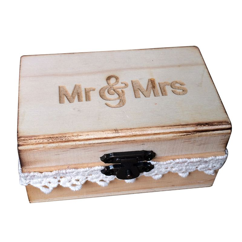 Mr and mrs ring box rustic wedding ring bearer box wood wedding image is loading mr and mrs ring box rustic wedding ring junglespirit Images