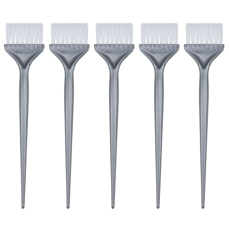 5 Pack Hair Dye Coloring Brushes Dyeing Kit Handle Salon Bleach DIY ...