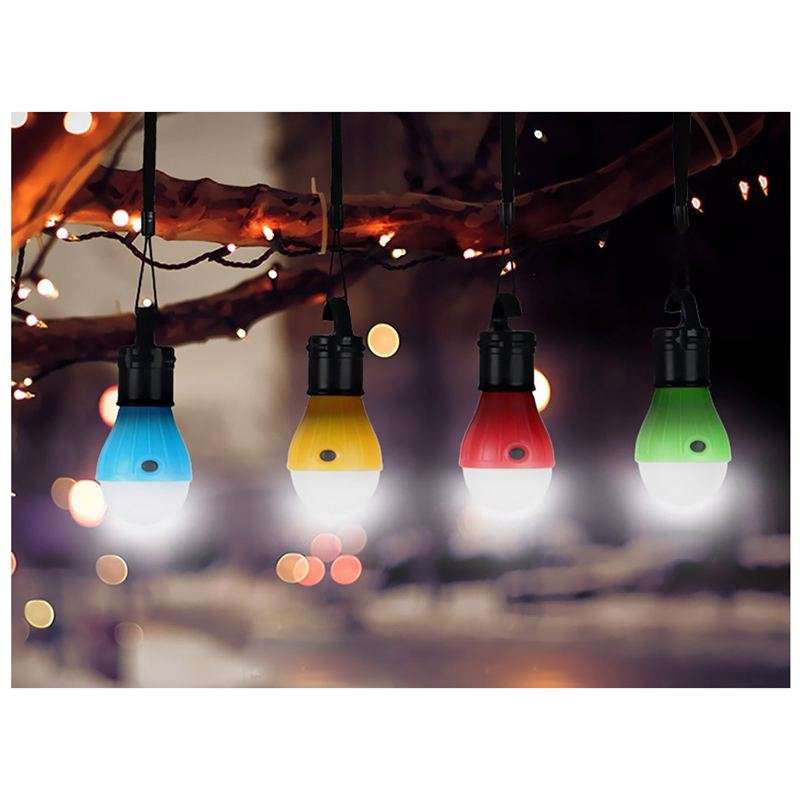 4 Pack Portable LED Lantern Tent Light Bulb Battery Powered Outdoor Cam D4B2 4X