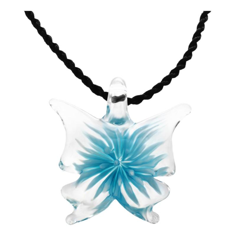 Handmade-Lebensechte-Schmetterling-Lampwork-Kunst-Glasperlen-Anhaenger-Halsk-E5K6 Indexbild 3