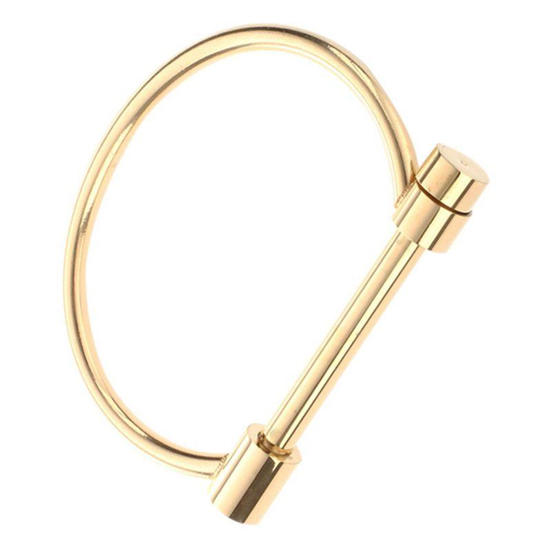 Fashion-Shackle-Screw-Cuff-Bracelet-Stainless-Steel-Bracelets-amp-Bangles-Y4U6 thumbnail 3