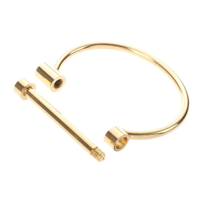 Fashion-Shackle-Screw-Cuff-Bracelet-Stainless-Steel-Bracelets-amp-Bangles-Y4U6 thumbnail 5