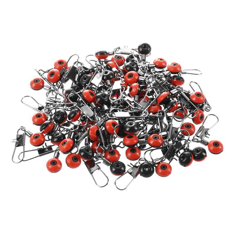 100X Schnelle Perlen Laufwirbel Wirbel Sicherheitskarabiner Posen Adapter Neu IS
