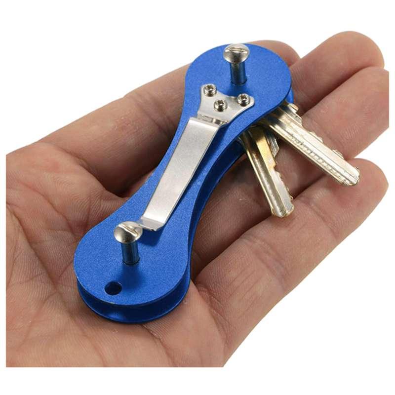 New-Aluminum-Smart-Key-Holder-Organizer-Clip-Folder-Keychain-Pocket-Tool-T3Z2 thumbnail 5