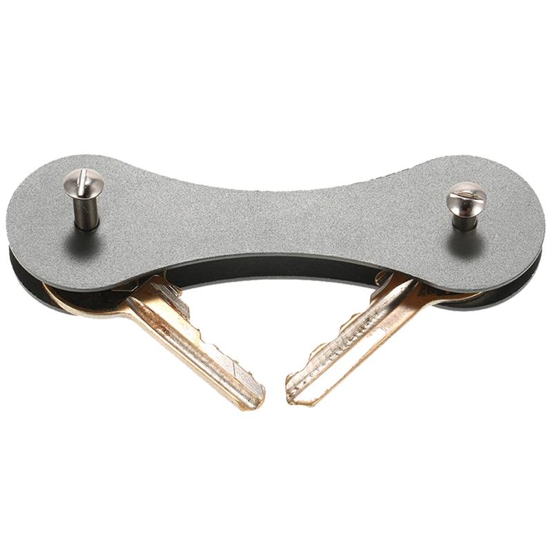 New-Aluminum-Smart-Key-Holder-Organizer-Clip-Folder-Keychain-Pocket-Tool-G-I6H6 thumbnail 5