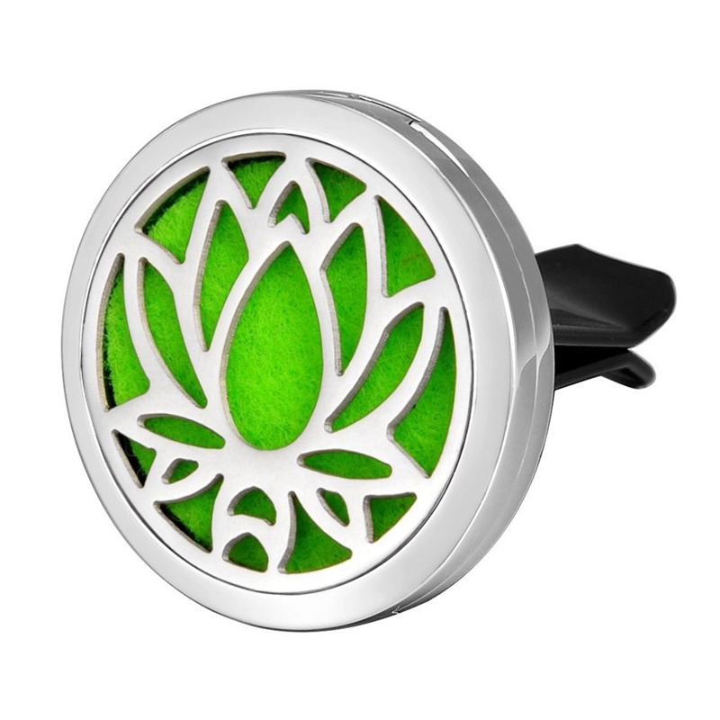 Car Air Freshener Aromatherapy Essential Oil Diffuser - Lotus Stainless 316 L5S8