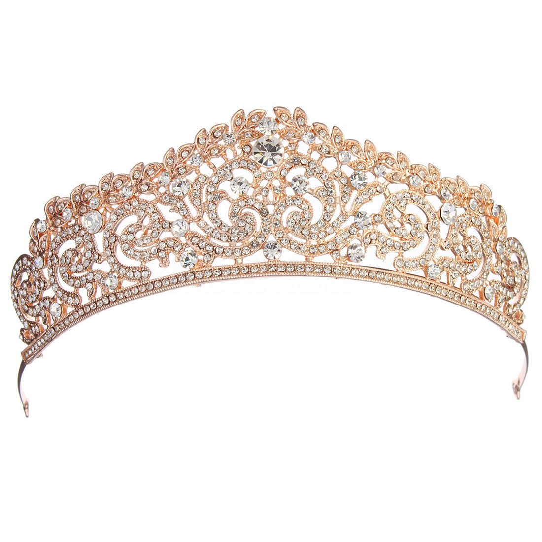 Details About Wedding Bridal Gold Crystal Rhinestone Pageant Tiara Crown Party Headb H9a3