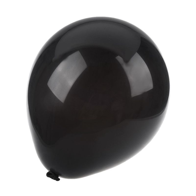 25-x-10-pulgada-Globos-de-latex-de-Boda-Negros-M2K2