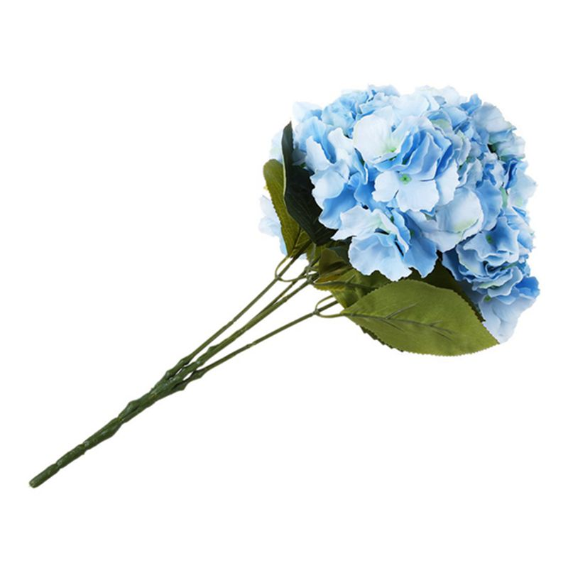 "thumbnail 12 - Artificial Hydrangea Flower 5 Big Heads Bouquet (Diameter 7"" each head) S6A9"