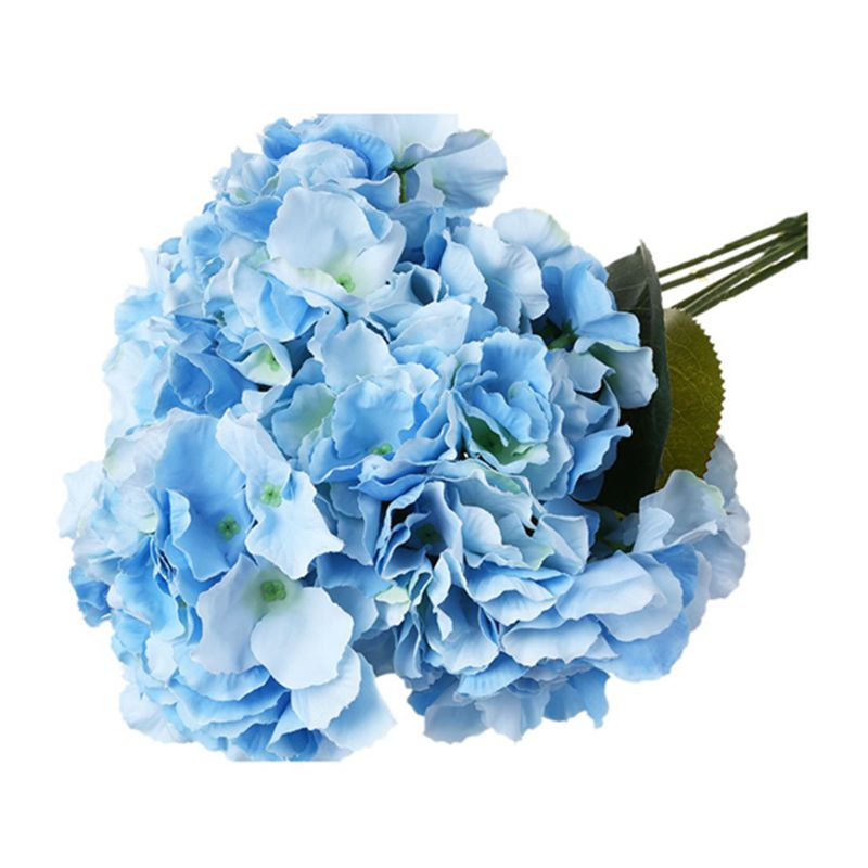 "thumbnail 14 - Artificial Hydrangea Flower 5 Big Heads Bouquet (Diameter 7"" each head) S6A9"