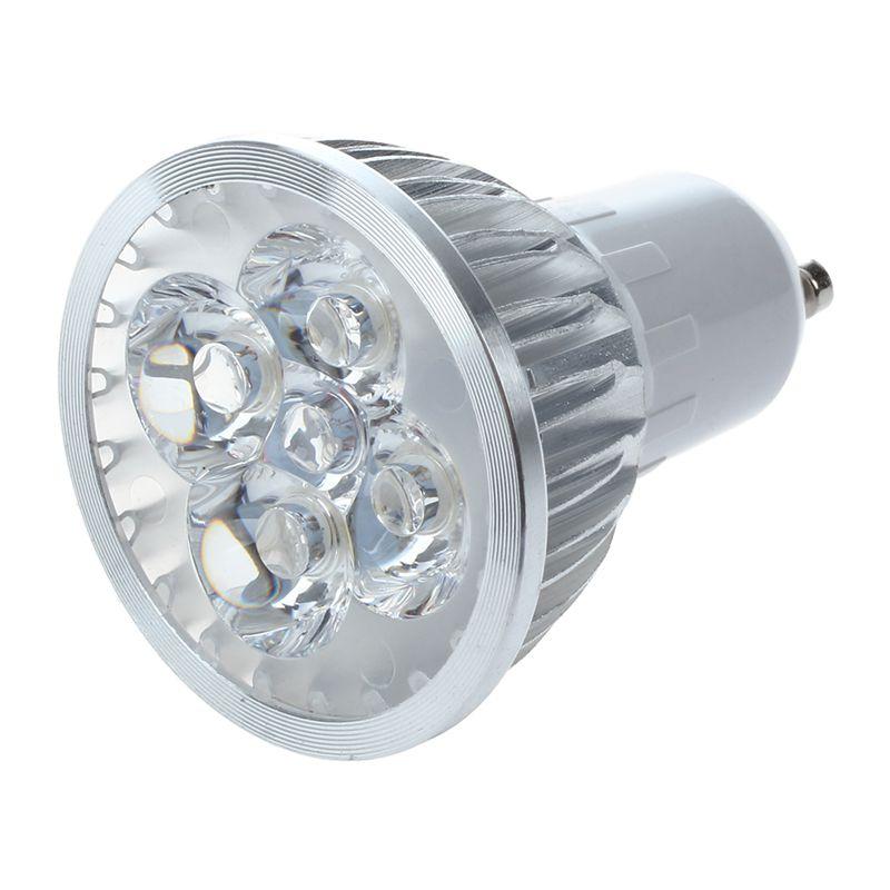 5x 1 x gu10 wei 4 led 6w energiesparend punkt licht der lampen birnen 220 u8y0 ebay. Black Bedroom Furniture Sets. Home Design Ideas