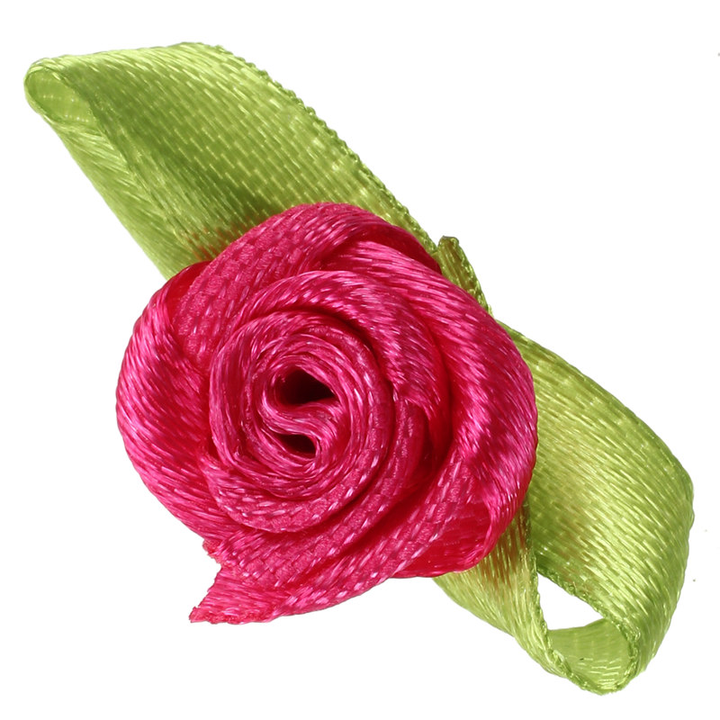 100pcs-Mini-Satin-Ribbon-Rose-Flower-Leaf-Wedding-Decor-Appliques-Sewing-DI-H6C1 thumbnail 4