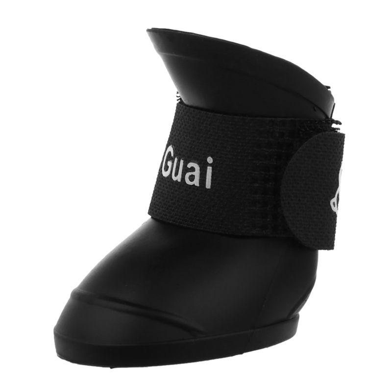 3X-Zapatos-de-mascota-Botines-de-goma-Botas-de-lluvia-impermeable-de-perro-U2U8 miniatura 17