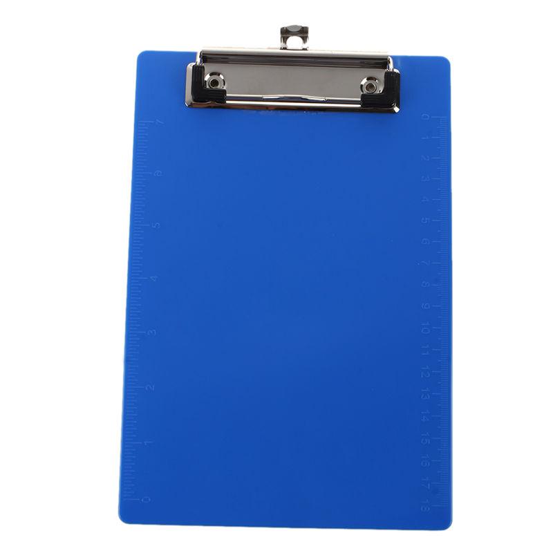 clipboard office paper holder clip. Office A5 Paper Holder Light Blue Plastic Board Clipboard 230 X 160 Mm K9E6 Clip R