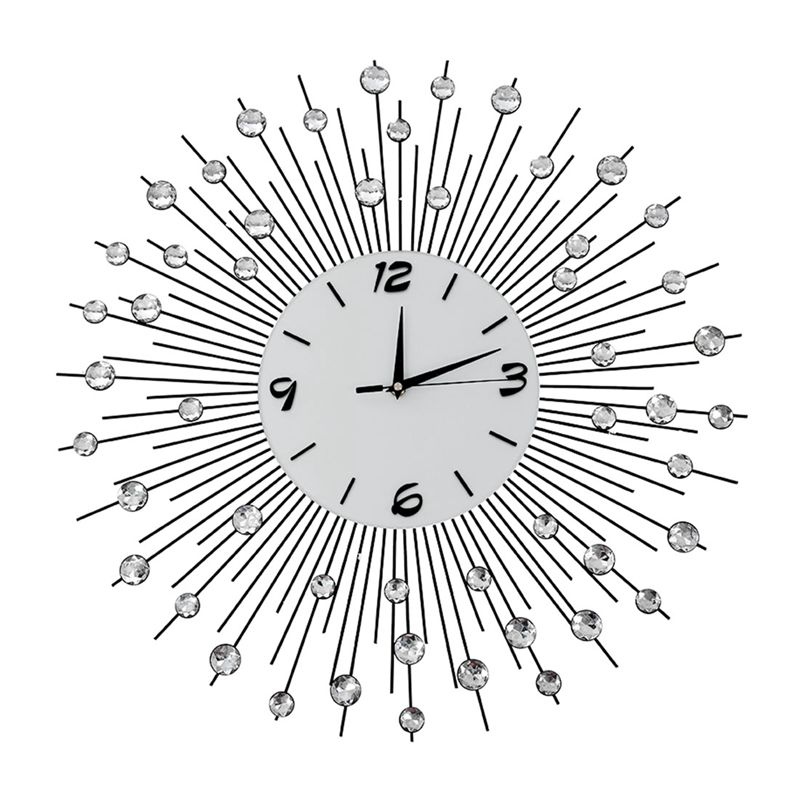 Modern Style 60cm Diy Large Round Metal Wall Clock Home
